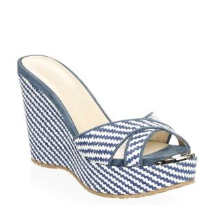 New Jimmy Choo Woven Wedge Sandals